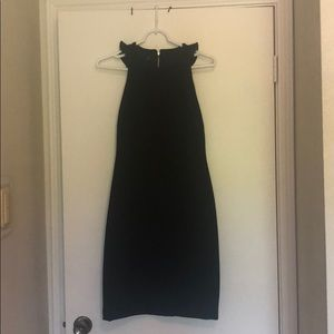 Little Black Dress with Ruffle Back detail